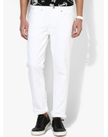 White Slim Fit Jeans by Burton